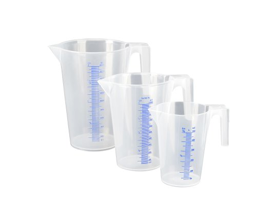 Набор мерных емкостей-PP комплект из 0,5 л, 1 л, 2 л