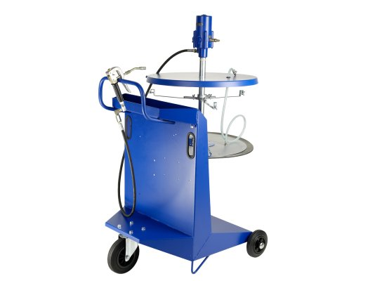 Солидолонагнетатель для раздачи смазки 200 кг Pressol с укрепленной тележкой