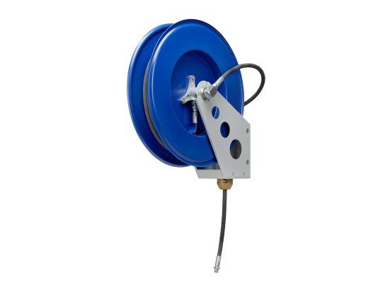 Катушка со шлангом для смазки открытая на стену или пол Pressol